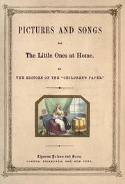 Cover of: Pictures and songs for the little ones at home |