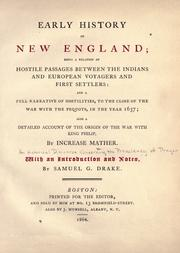 Cover of: Early history of New England