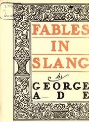 Cover of: Fables in slang
