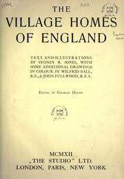 Cover of: The village homes of England by Jones, Sydney R.