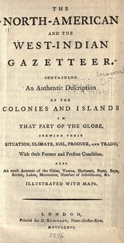 Cover of: The North-American and the West-Indian gazetteer by