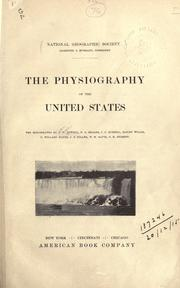 Cover of: The physiography of the United States