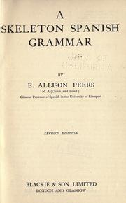 Cover of: A skeleton Spanish grammar