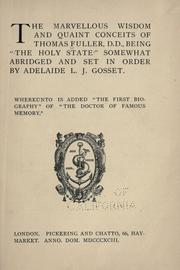 Cover of: The marvellous wisdom and quaint conceits of Thomas Fuller, D.D