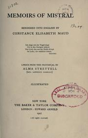 Cover of: Memoirs of Mistral