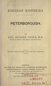 Cover of: Peterborough | George Ayliffe Poole
