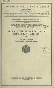 Cover of: Educational tests for use in elementary schools