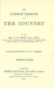 Cover of: The comon objects of the country