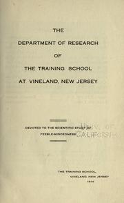 Cover of: The Research Department