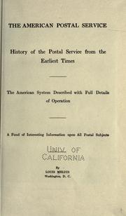 Cover of: The American postal service