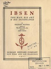 Cover of: Ibsen