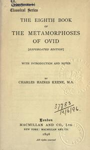 Cover of: The eighth book of the Metamorphoses. by Ovid