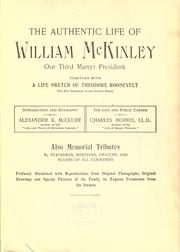 Cover of: The authentic life of William McKinley ..