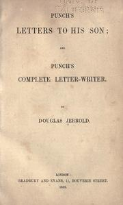 Cover of: Punch's letters to his son, and Punch's complete letter-writer