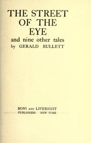 Cover of: The street of the eye