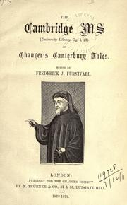 Cover of: [Publications] by Chaucer Society, London