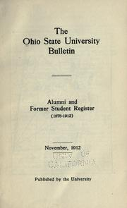 Cover of: Alumni and former students register, 1878-1912
