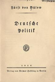 Cover of: Deutsche politi