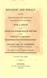 Cover of: Religion and policy and the countenance and assistance each should give to the other