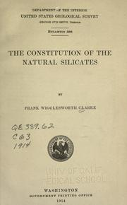 Cover of: The constitution of the natural silicates
