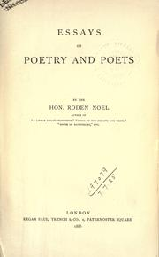 Cover of: Essays on poetry and poets