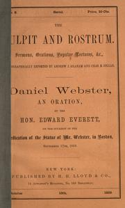 Cover of: Daniel Webster
