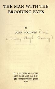 Cover of: The man with the brooding eyes