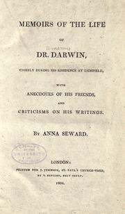 Cover of: Memoirs of the life of Dr. Darwin