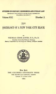 Cover of: The sociology of a New York city block