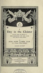 Cover of: A day in the cloister