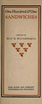 One Hundred and One Sandwiches by May E. Southworth