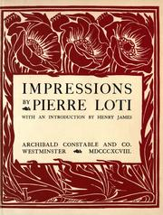 Cover of: Impressions