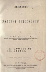 Elements of natural philosophy by W. H. C. Bartlett