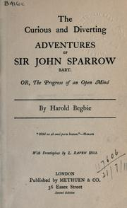 Cover of: The curious and diverting adventures of Sir John Sparrow, Bart
