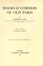 Cover of: Nooks & corners of old Paris