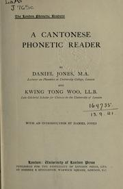 Cover of: A Cantonese phonetic reader