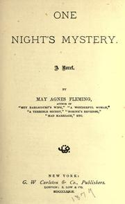 One night's mystery by May Agnes Fleming