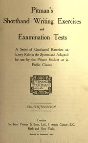 Pitman S Shorthand Writing Exercises And Examination Tests 1906
