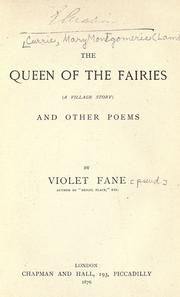 Cover of: The queen of the fairies (a village story) and other poems