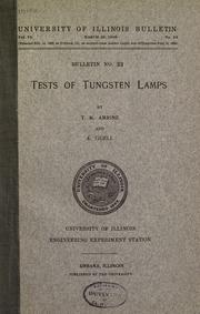 Cover of: Tests of tungsten lamps