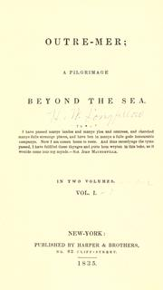 Cover of: Outre-mer: a pilgrimage beyond the sea.