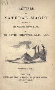 Cover of: Letters on natural magic, addressed to Sir Walter Scott