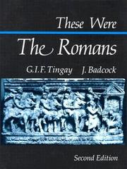 Cover of: These were the Romans | Graham Tingay
