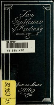 Cover of: Two gentlemen of Kentucky