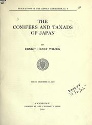 Cover of: The conifers and taxads of Japan