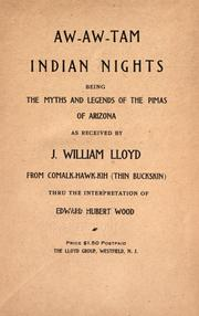 Cover of: Aw-aw-tam Indian nights by J. William Lloyd