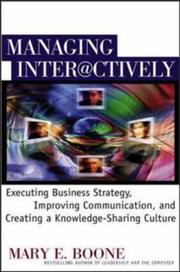 Cover of: Managing Interactively | Mary E. Boone