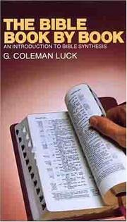 Cover of: The Bible Book by Book | Coleman Luck