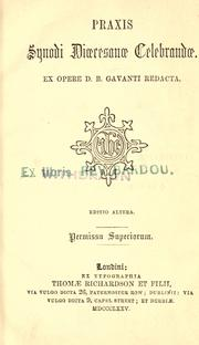 Cover of: Praxis Synodi Dicesanae celebrandae by