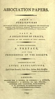 Association papers by Society for Preserving Liberty and Property against Republicans and Levellers.